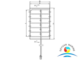 Marine Steel Funnel Close-able Louver