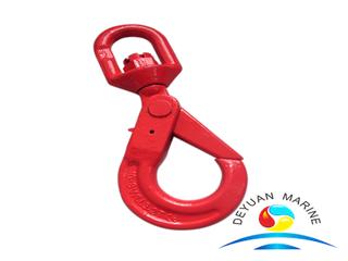 European Type G80 Alloy Steel Swivel Eye Self-locking Hooks