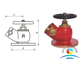 45°Flanged Fire Hydrant