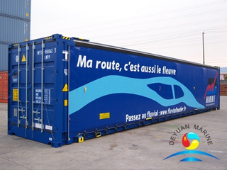 45' Curtain Side Container
