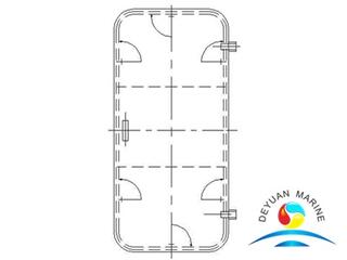 Marine Ship Steel Type Weathertight Door For deckhouse