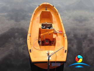 Marine F.R.P Material Open Type Rescue Lifeboat With Diesel Engine