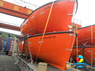 Fiberglass Open Type Lifeboat G.R.P Working Boat with Diesel Engine