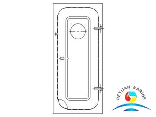 Boat Marine Steel Type No-watertight door With Round Window