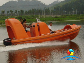 4.5M Normal Speed Type FRP Marine Rescue Boat With Davit