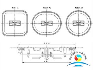 Marine Boat Sunk Type Weathertight Steel Hatch Cover
