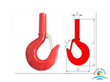 S319 Forged Carbon Steel Shank Hoist Hooks with Latch