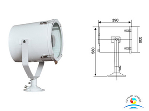 Marine TG27-B 1000W High Powered Stainless Steel Boat Searchlight