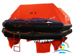 25 Persons Throw Overboard Type Inflatable Liferaft for Commercial Vessel