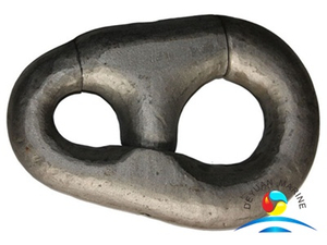 ABS Approved Black Painted Marine Pear Type Connecting Shackle