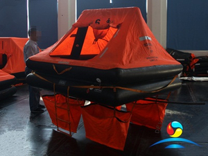 YJT Type 6 Man Throw Overboard Inflatable Life Raft