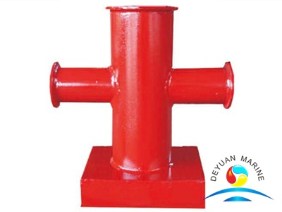 70T Ship's Cross Bitts Cast Steel Single Cruciform Bollard Stainless Steel Double Bitts