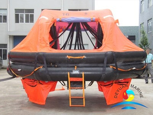ADL Type 16 Person Davit-launching Inflatable Liferaft