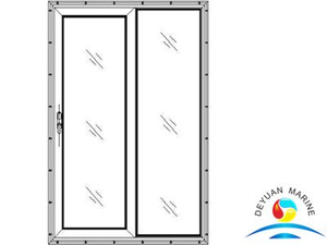 Marine Fixed Single-leaf Slided Aluminium Sliding Door For Vessel