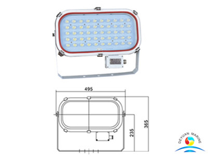 50W TG20 LED Boat Spot Lights For Marine Tank
