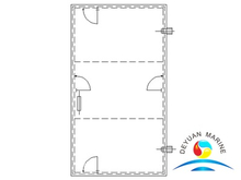 DF Type Marine Single-leaf Steel Weathertight Door