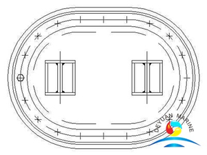 Boat Long Circular Sunk Type Manhole Cover Without Shield