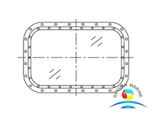 Marine Fixed Rectangular Window For Wheel House