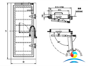 Ship Steel Watertight Hinged Type Door With Hydraulic Operating System