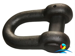 D Type End Shackle for Anchor Chain Black Painted