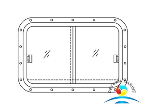 Model 215 Marine Double Leaves Aluminum Frame Weathertight Sliding Windows