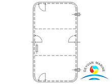 DY Type Marine Single-leaf Steel Weathertight Door