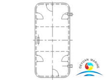 Marine Ship Steel Type Weathertight Door For deckhouse