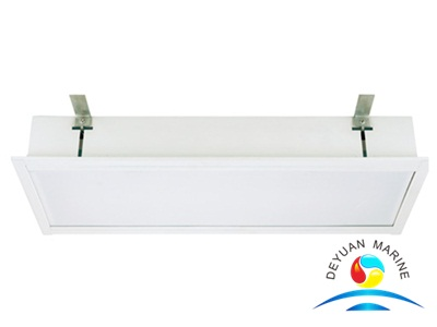 JPY25-2 Fluorescent Ceiling Light Fixture With Tube For Marine Ship Vessel