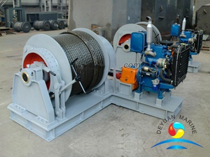 Diesel Engine Driven Marine Mooring Winch For Ship