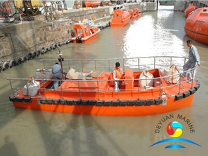 SOLAS Approved 15 Persons FRP Fast Rescue Boat with Outboard Or Inboard Engine