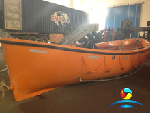 Fiberglass Open Type Lifeboat With Diesel Engine As A Pleasure Boat For Sale