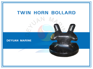 Ductile Cast Iron Twin Horn Bollard for Mooring