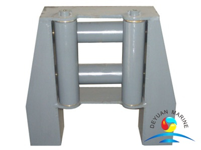 Marine DIN Standard Steel Four-roller Fairlead For Ship Boat
