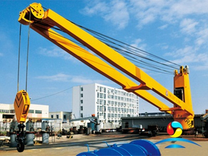Marine Electric Hydraulic Winch Luffing Ship Crane