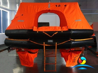 HSR-Y-12 SOLAS Approved Marine Inflatable Life Raft With Good Quality
