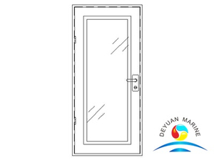 Marine Ship Single-leaf Aluminium Door For Glass Cabin