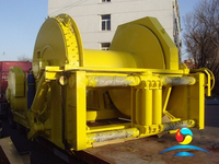 Single Drum Waterfall Type Electric Barge Marine Winch