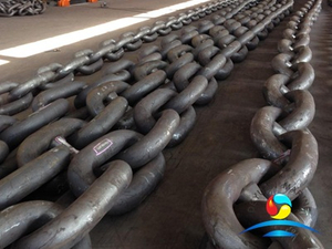 Blacking Painting RQ4 Grade Offshore Stud Link Mooring Anchor Chain
