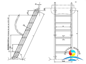 Marine Aluminium Inclined Ladder For Boat With CCS Approval