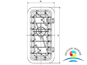 Marine High Quality Quck Acting Hinged Type Steel Watertight Door