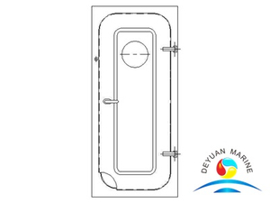 Boat Marine Steel Type No-watertight door With Round Window