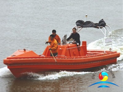 6 Person SOLAS Approved Marine GRP Open Type Fast Rescue Boats