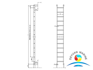 ISO Standard Marine Steel And Aluminum Vertical Ladder For Boat