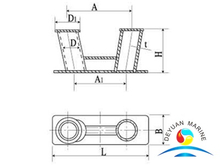 Marine Mooring Dock Steel Doubt Baseplate Welded Inclined Bollard