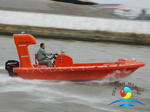 High Speed Type GRP Rescue Boat SOLAS Approved 9-15 People Capacity