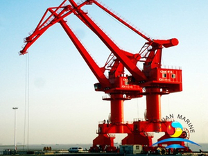 Double Jib Level Luffing Portal Jib Crane For Container Port