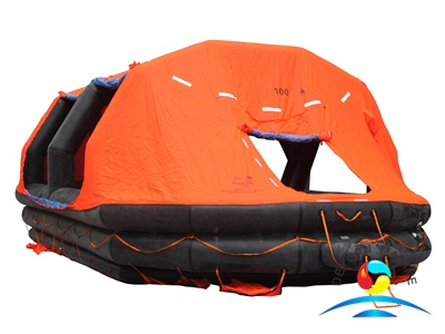 ASR Type 100 Persons Self-Righting Inflatable Life Raft With