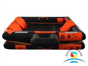 Hot Sell Marine AOR Type 6 Man Open-Reversible Inflatable Life Raft
